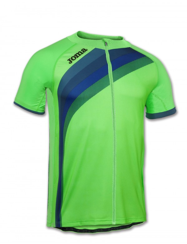 MAILLOT CYCLING GREEN FLUOR S/S