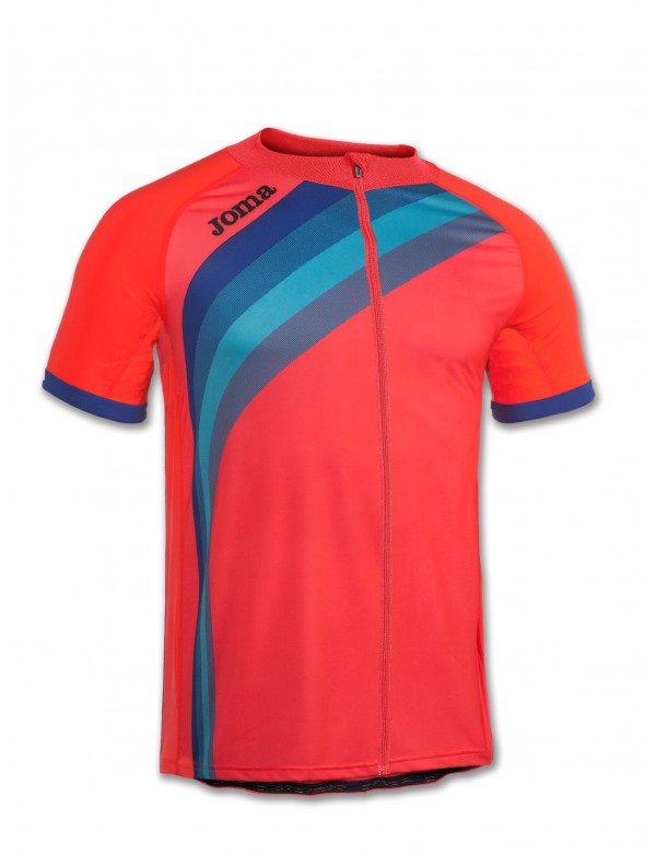 MAILLOT CYCLING CORAL FLUOR S/S