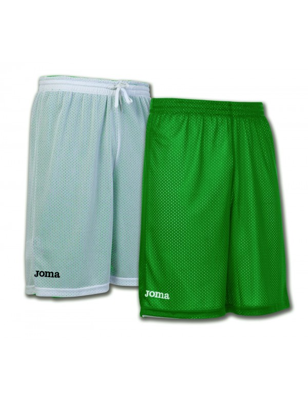 SHORT BASKET REVERSIBLE ROOKIE GREEN-WHITE