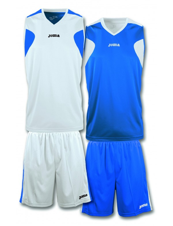 BASKETBALL REVERSIBLE SET WHITE-ROYAL