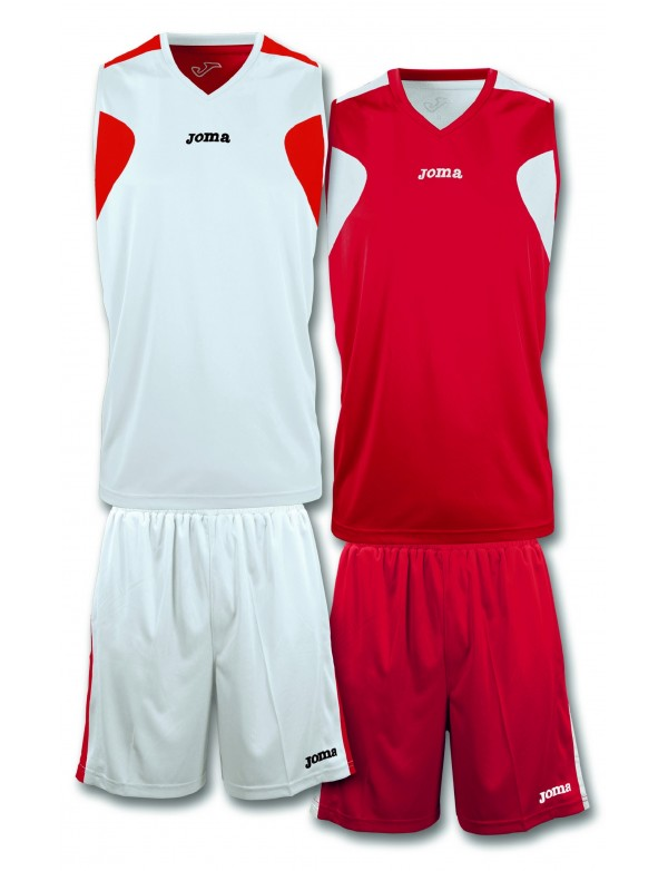 BASKETBALL REVERSIBLE SET WHITE-RED