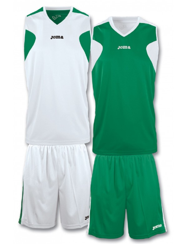 BASKET GREEN-WHITE SET