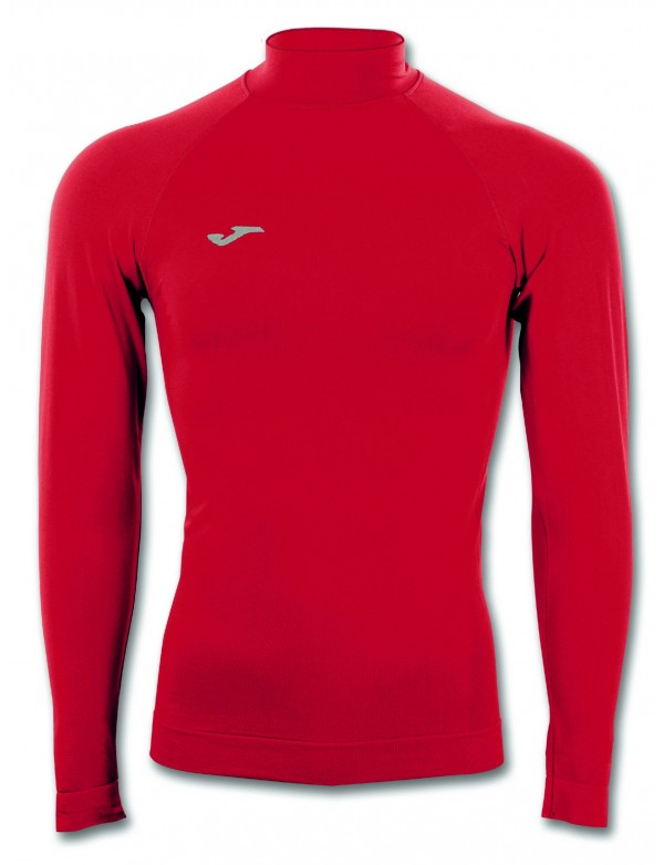 T-SHIRT BRAMA CLASSIC RED WITH NECK L/S