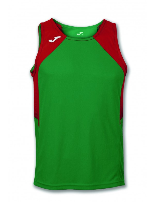 T-SHIRT RECORD GREEN-RED SLEEVELESS
