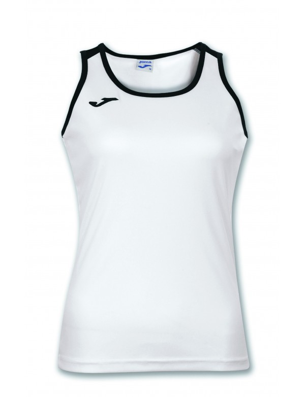 T-SHIRT KATY WHITE-BLACK SLEEVELESS WOMAN
