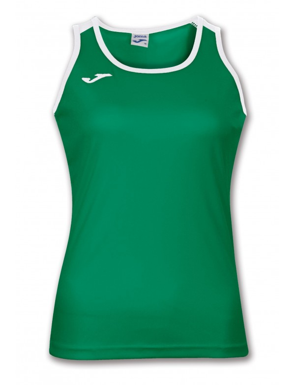 T-SHIRT KATY GREEN-WHITE SLEEVELESS