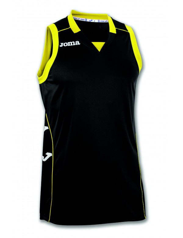 T-SHIRT CANCHA II BLACK-YELLOW SLEEVELESS