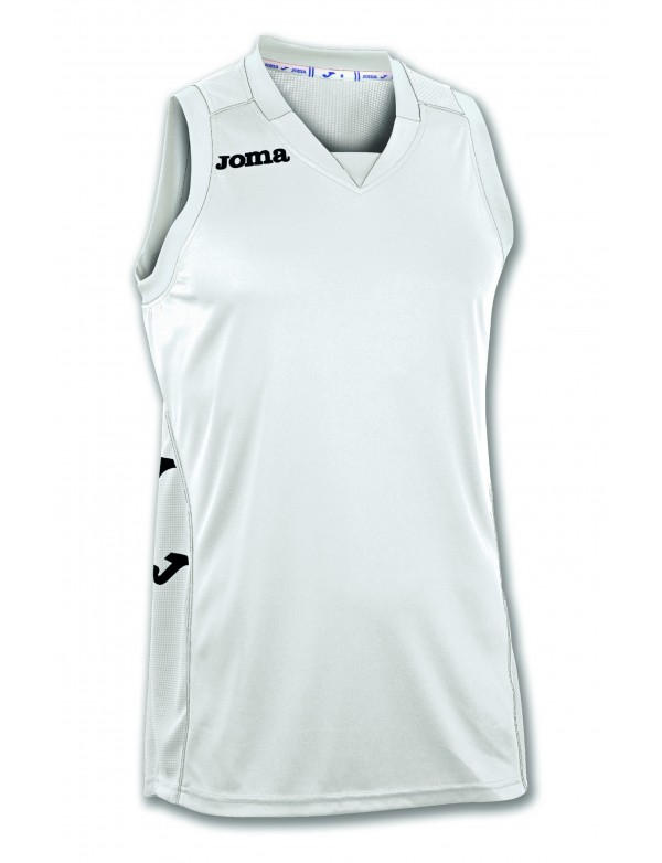 T-SHIRT CANCHA II WHITE-BLACK SLEEVELESS