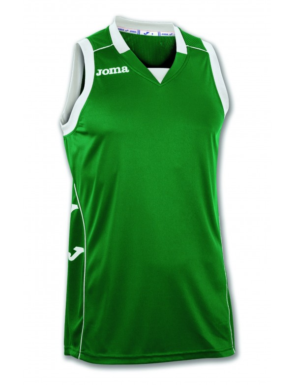 T-SHIRT CANCHA II GREEN-BLACK SLEEVELESS
