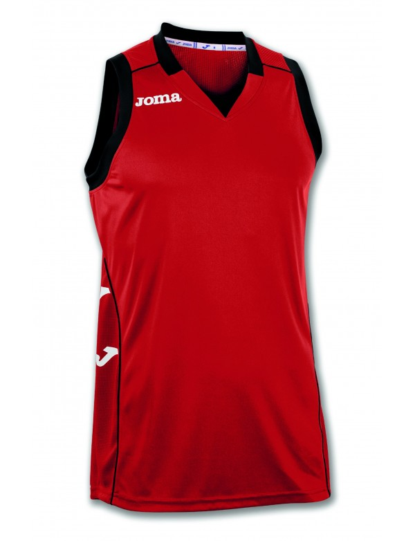 T-SHIRT CANCHA II RED-BLACK SLEEVELESS