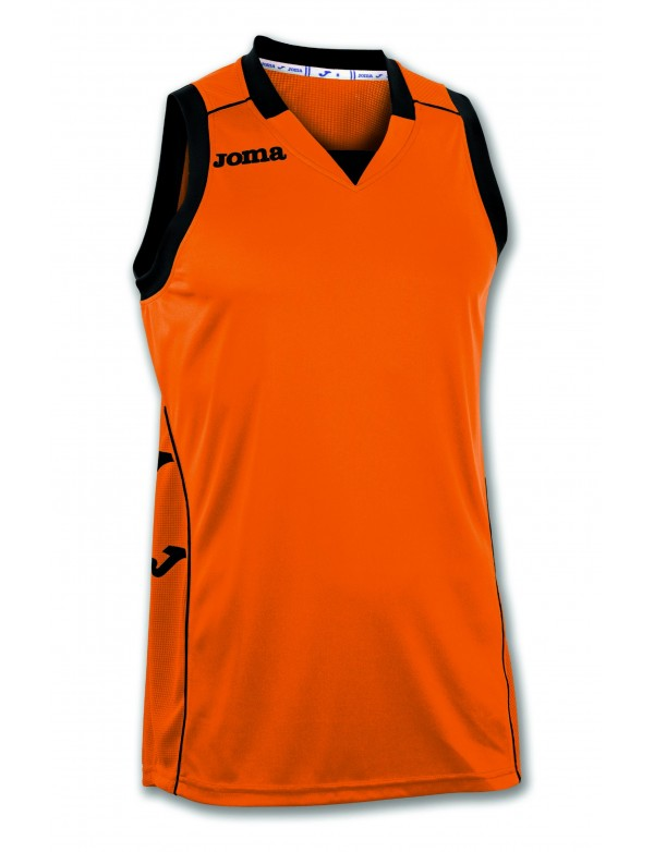 T-SHIRT CANCHA II ORANGE-BLACK SLEEVELESS
