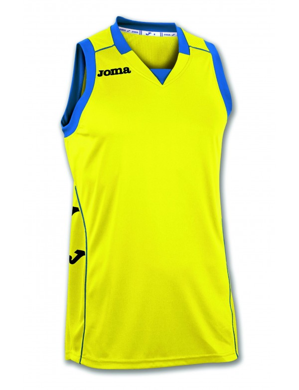 T-SHIRT CANCHA II YELLOW-BLACK SLEEVELESS