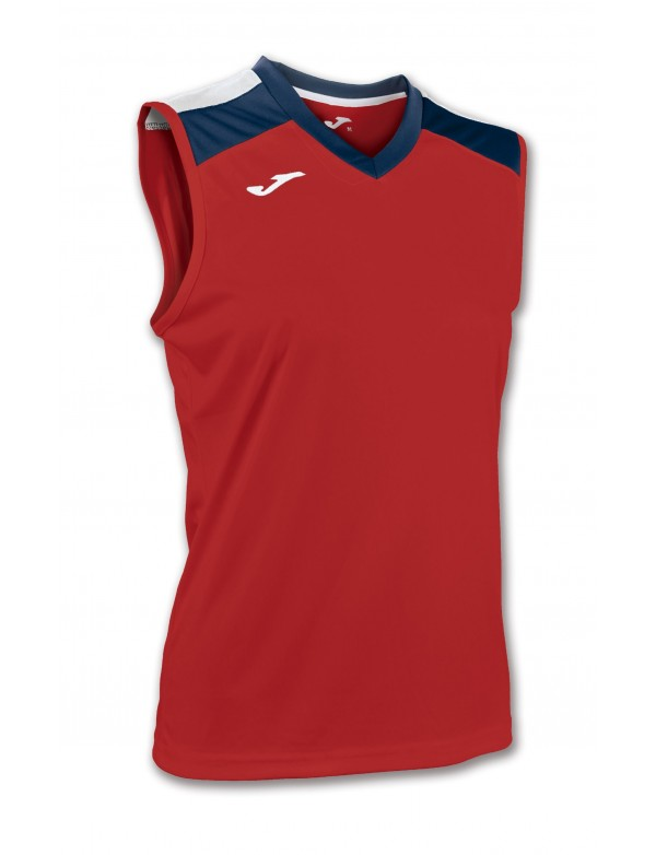 VOLLEY SHIRT RED-NAVY SLEEVELESS W.