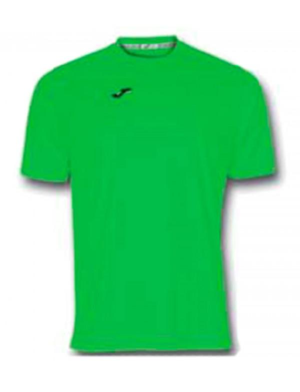 T-SHIRT COMBI GREEN FLUOR S/S