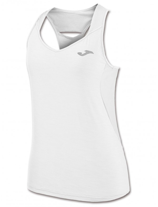 T-SHIRT TENNIS WHITE SLEEVELESS