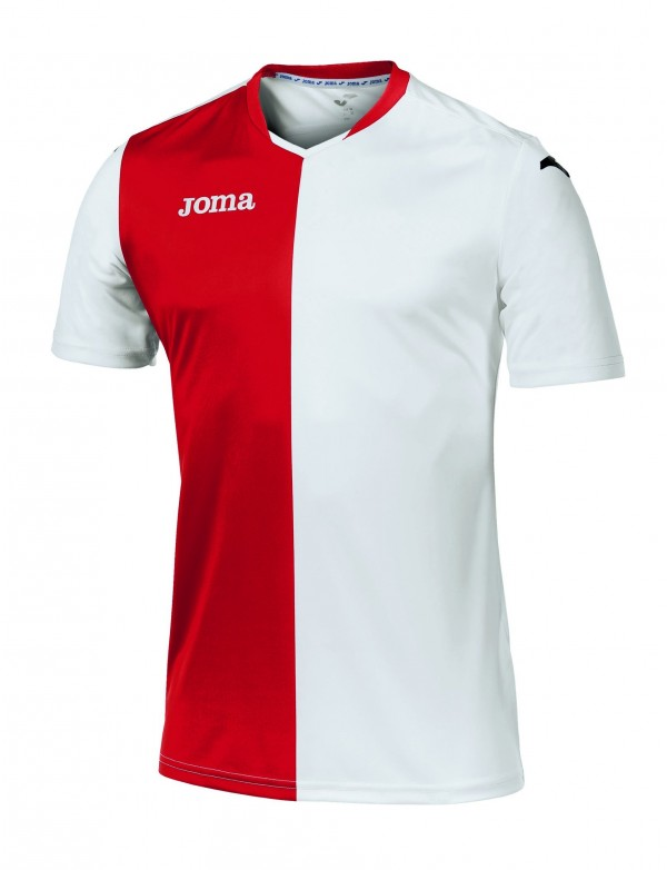 T-SHIRT PREMIER WHITE-RED S/S
