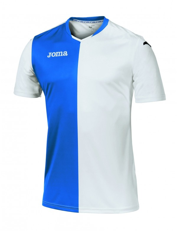 T-SHIRT PREMIER WHITE-ROYAL S/S