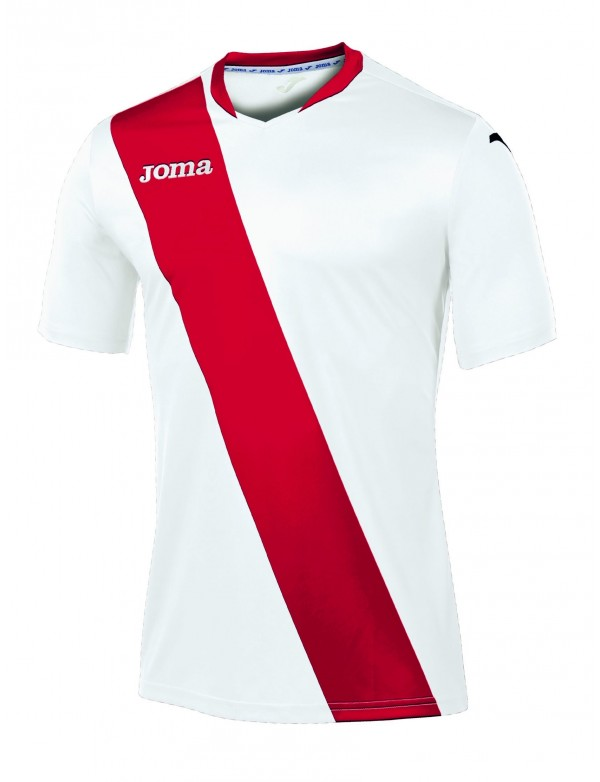 T-SHIRT MONARCAS WHITE-RED S/S