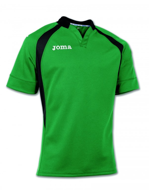 T-SHIRT RUGBY GREEN-BLACK S/S