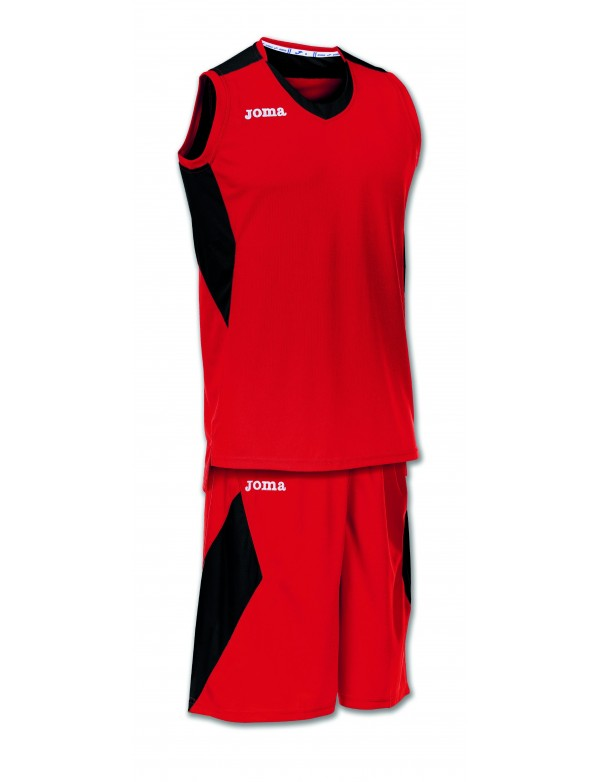 SET SPACE RED-BLACK SLEEVELESS