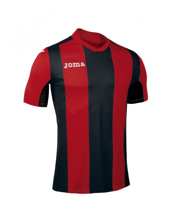 T-SHIRT PISA V  RED-BLACK S/S