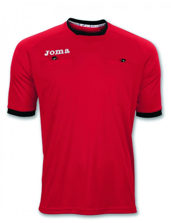 T-SHIRT REFEREE S/S RED