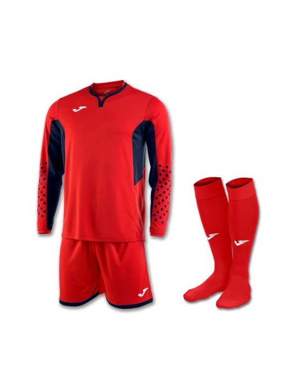 SET GOALKEEPER T-SHIRT L/S + SHORT + SOCKS TANGERIE RED