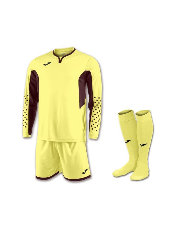 SET GOALKEEPER T-SHIRT L/S + SHORT + SOCKS LIMELIGHT