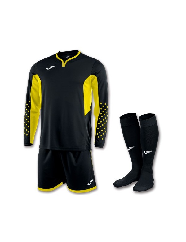 SET GOALKEEPER T-SHIRT L/S + SHORT + SOCKS BLACK