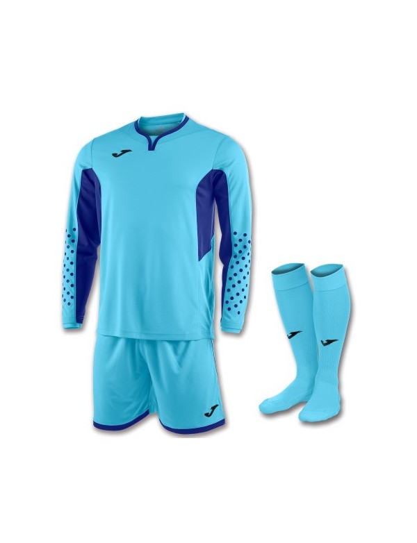 SET GOALKEEPER T-SHIRT L/S + SHORT + SOCKS TURQUIOUSE