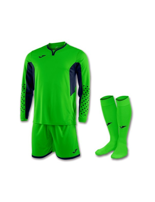 SET GOALKEEPER T-SHIRT L/S + SHORT + SOCKS GREEN FLUOR