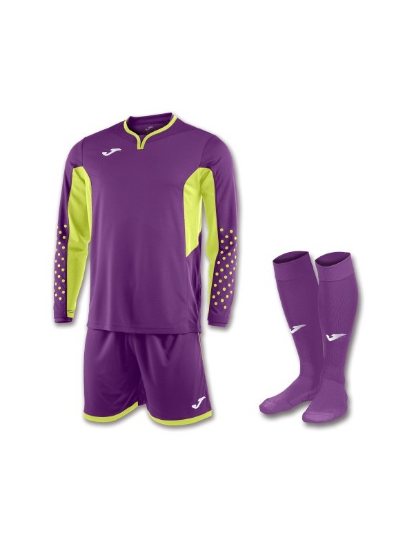 SET GOALKEEPER T-SHIRT L/S + SHORT + SOCKS VIOLET