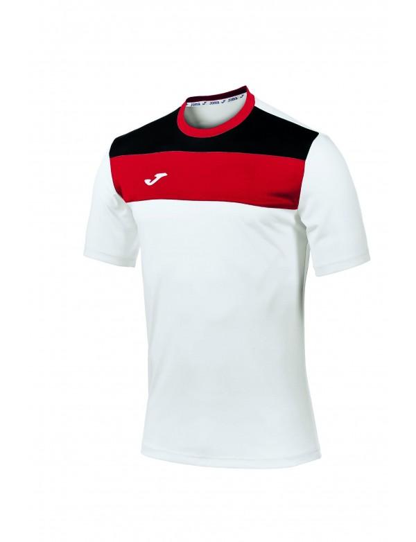 T-SHIRT CREW WHITE-RED S/S