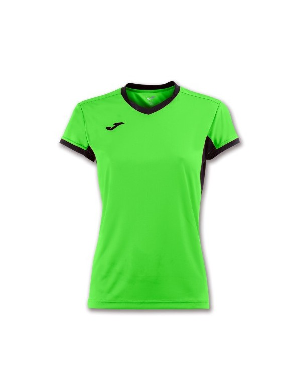 T-SHIRT CHAMPION IV WOMAN GREEN FLUOR