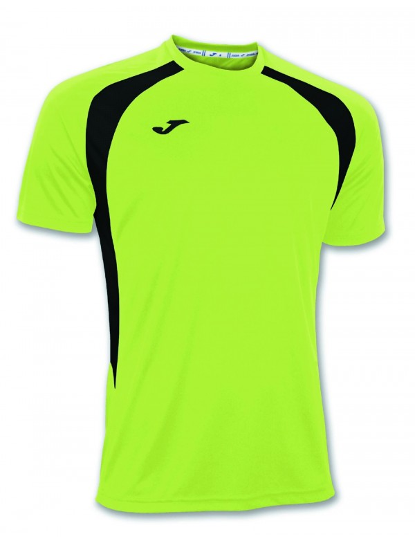 T-SHIRT CHAMPION III GREEN FLUOR-BLACK S/S