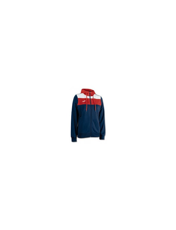 JACKET WM CREW HOODED NAVY-RED
