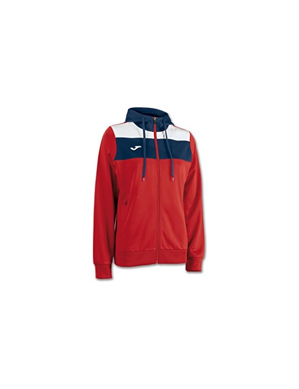 JACKET WM CREW HOODED RED-NAVY