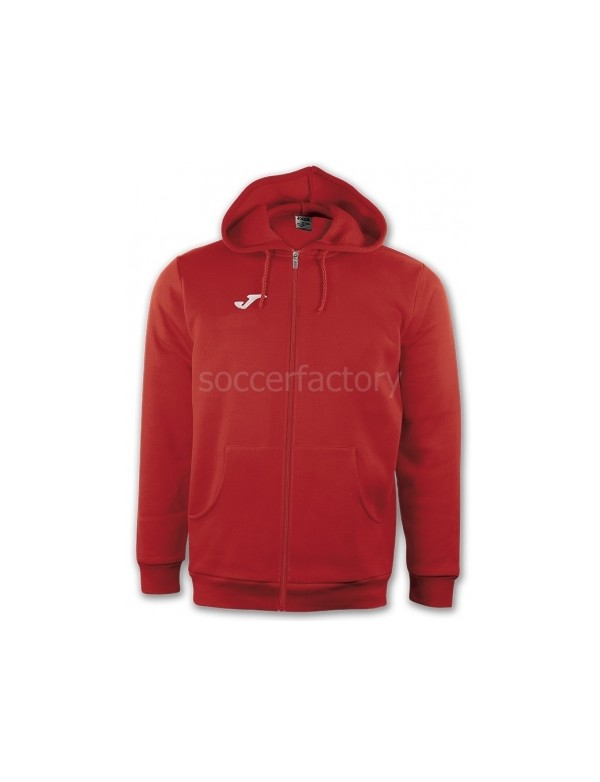 JACKET HOODED COMBI RED