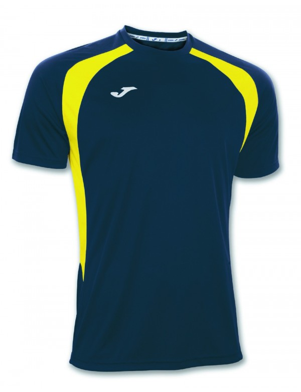 T-SHIRT CHAMPION III NAVY-YELLOW S/S