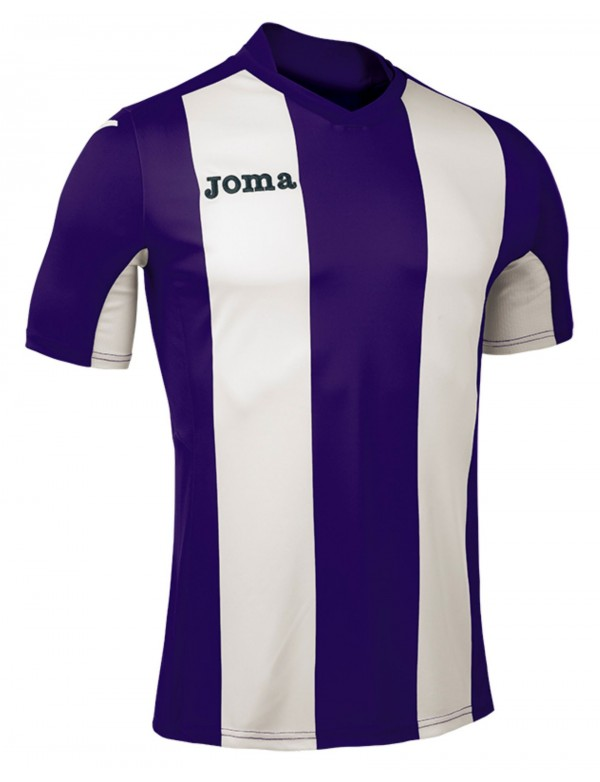 T-SHIRT VERTICAL STRIPED PURPLE S/S