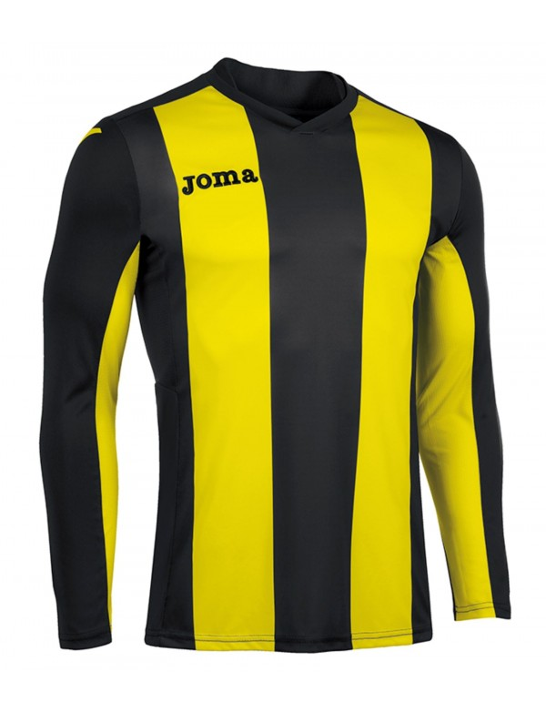 T-SHIRT PISA V  BLACK-YELLOW L/S