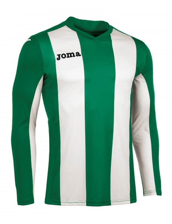 T-SHIRT VERTICAL STRIPED GREEN  L/S