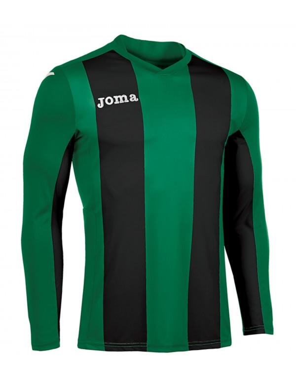 T-SHIRT PISA V GREEN-BLACK  L/S