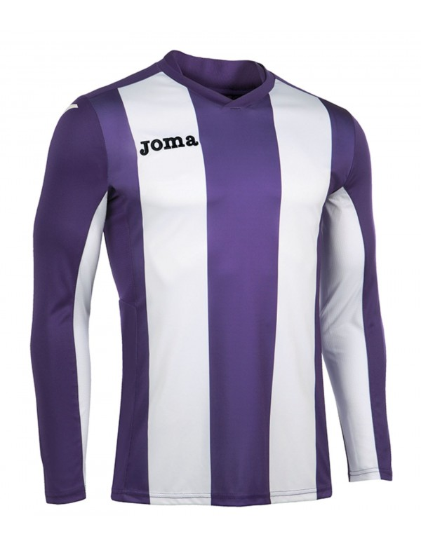 T-SHIRT VERTICAL STRIPED PURPLE L/S