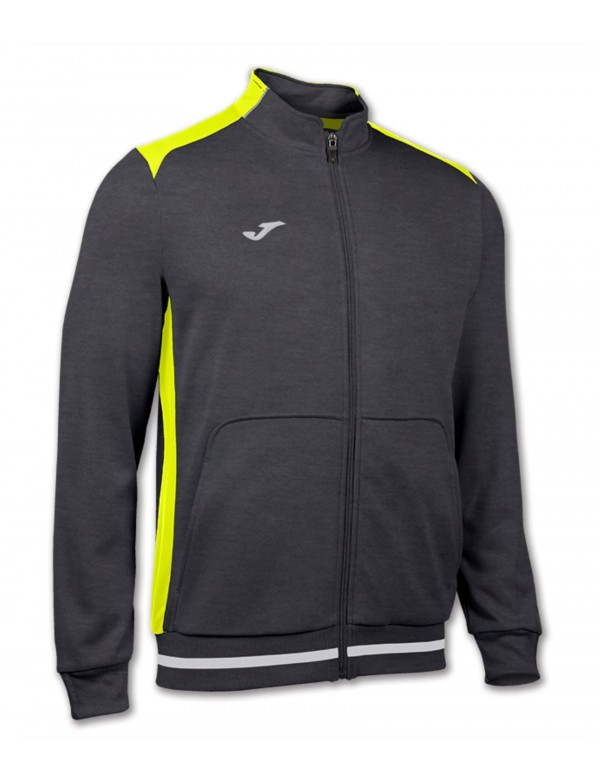 CAMPUS II JACKET DARK MELANGE-YELLOW FLUOR