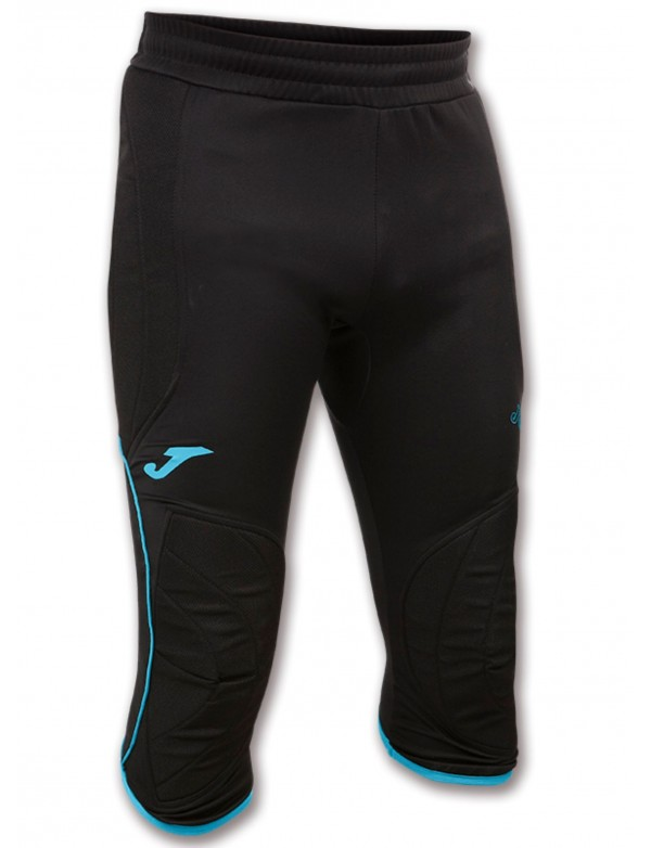 PIRATE PANT PROTECTION GOALKEEPER BLACK-TURQUOISE